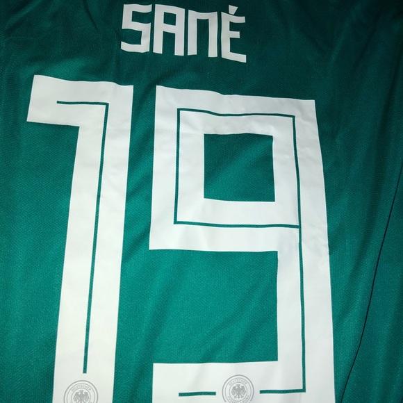 newest a73d1 e5cf5 Adidas Leroy Sané 2018 WC Germany Jersey NWT